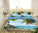 Coconut Tree Seagull CD Bedding Set INKPLF