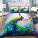 Beautiful Peacock Art Printed Bedding Set Bedroom Decor 01