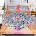 Gemstone Mandala Printed Bedding Set Bedroom Decor 01