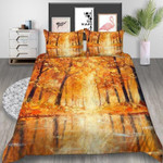 Beautiful Autumn Forest Printed Bedding Set Bedroom Decor