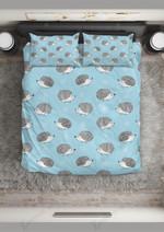 Hedgehog Loving Stranger Pattern Printed Bedding Set Bedroom Decor