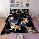 Hippie Dog Printed Bedding Set Bedroom Decor 01
