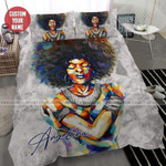 Black Girl Paint color Custom Name Duvet Cover Bedding Set #176L