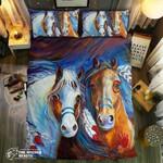 Horse Native American Printed Bedding Set Bedroom Decor 02