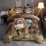 Pitbull Pack Running Printed Bedding Set Bedroom Decor