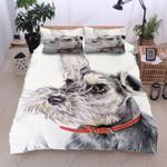 Miniature Schnauzer Dog Printed Bedding Set Bedroom Decor