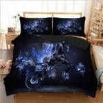 Horse Blue Smoke Bedding Set Bedroom Decor
