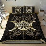 Moon And Sun Wicca Custom Name Duvet Cover Bedding Set #DH