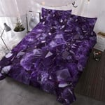Amethyst Crystals Printed Bedding Set Bedroom Decor