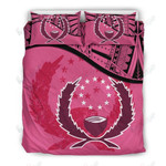 Pohnpei Pink Printed Bedding Set Bedroom Decor