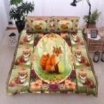 Fox Flowers Printed Bedding Set Bedroom Decor