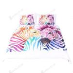 Safari Zebra Set Colored Animal  Bedding Set Bedroom Decor 01