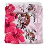 Polynesian Hawaii Polynesia Turtle Hibiscus Pink A Bedding Set CAMLIQX