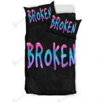 Broken Grunge Meets Watercolor Bedding Set Bedroom Decor 01