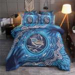 Blue Bird Vintage Printed Bedding Set Bedroom Decor 01