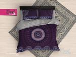 Purple Mandala ClaB Bedding Set CAMLI QOZ