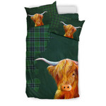 Keith Ancient Tartan Scottish Highland Cow Bedding Set JJITW