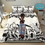 Black Girl Sassy Body Grafity Custom Name Duvet Cover Bedding Set #2907DH