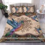 Hummingbird Mandala Duvet Cover Bedding Set #2406H