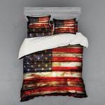 Old American Flag  Printed Bedding Set Bedroom Decor