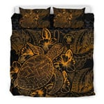 Polynesian Niue Gold Color Bn Bedding Set CAMLIMS