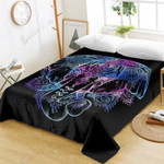 Colorful Elephant Ptinted Bedding Set Bedroom Decor 01