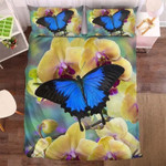 Blue Butterfly And The Orchid Bedding Set Bedroom Decor