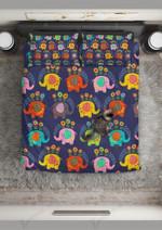Colorful Floral Elephant Printed Bedding Set Bedroom Decor