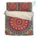 Red Mandala Pattern Printed Bedding Set Bedroom Decor 01