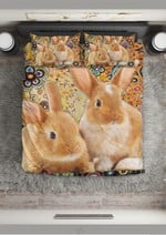 Beautiful Image Of Rabbits A Lovely Gift Bedding Set Bedroom Decor