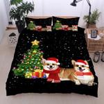 Christmas Corgi Dog Warm Christmas Eve Bedding Set IYMO