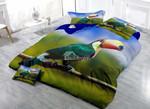Green Tropical Toucan Printed Bedding Set Bedroom Decor 01