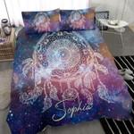 Dreamcatcher Galaxy Bedding Custom Name Comforter Set Duvet Cover Bedding Set #1606H