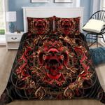Skull And Rose Custom Name Duvet Cover Bedding Set #DH