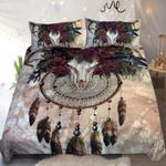 Horn Skull Dreamcatcher With Flower  Bedding Set Bedroom Decor