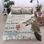 Family To My Husband Printed Bedding Set Bedroom Decor