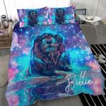 Lion Neon Custom Name Duvet Cover Bedding Set #2007DH