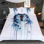 Ice Wolf By Pixie Cold Art Bedding Set Bedroom Decor