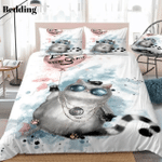 Cute Fat Cat With Round Glasses HHCTH Bedding Set BEVRNZ