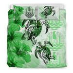 Polynesian Tahiti Polynesia Turtle Hibiscus Green A Bedding Set CAMLIUZ