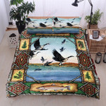 Mallard Black Bird Printed Bedding Set Bedroom Decor
