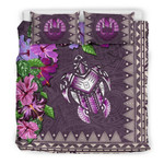 Polynesian Tahiti Turtle Hibiscus Purple A Bedding Set CAMLISQ