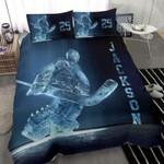IceHockey Goalie Custom Duvet Cover Bedding Set withYour Name #243l