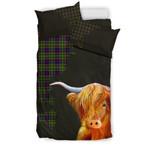 Ayrshire District Tartan Scottish Highland Cow Bedding Set JJIUL