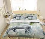 Moon Unicorn Printed Bedding Set Bedroom Decor
