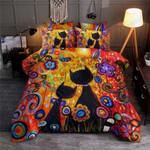 Happy Cat Color Flower Printed Bedding Set Bedroom Decor