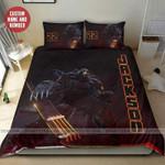 Hockey Goalie Robot Custom Duvet Cover Bedding Set with name #0606l