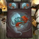 Loving Fox Art Bedding Set Bedroom Decor 01