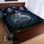 Mandala Pattern Dragon Black Steel Bedding Set XXOP