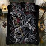 Skull Death Scythe King Printed Bedding Set Bedroom Decor